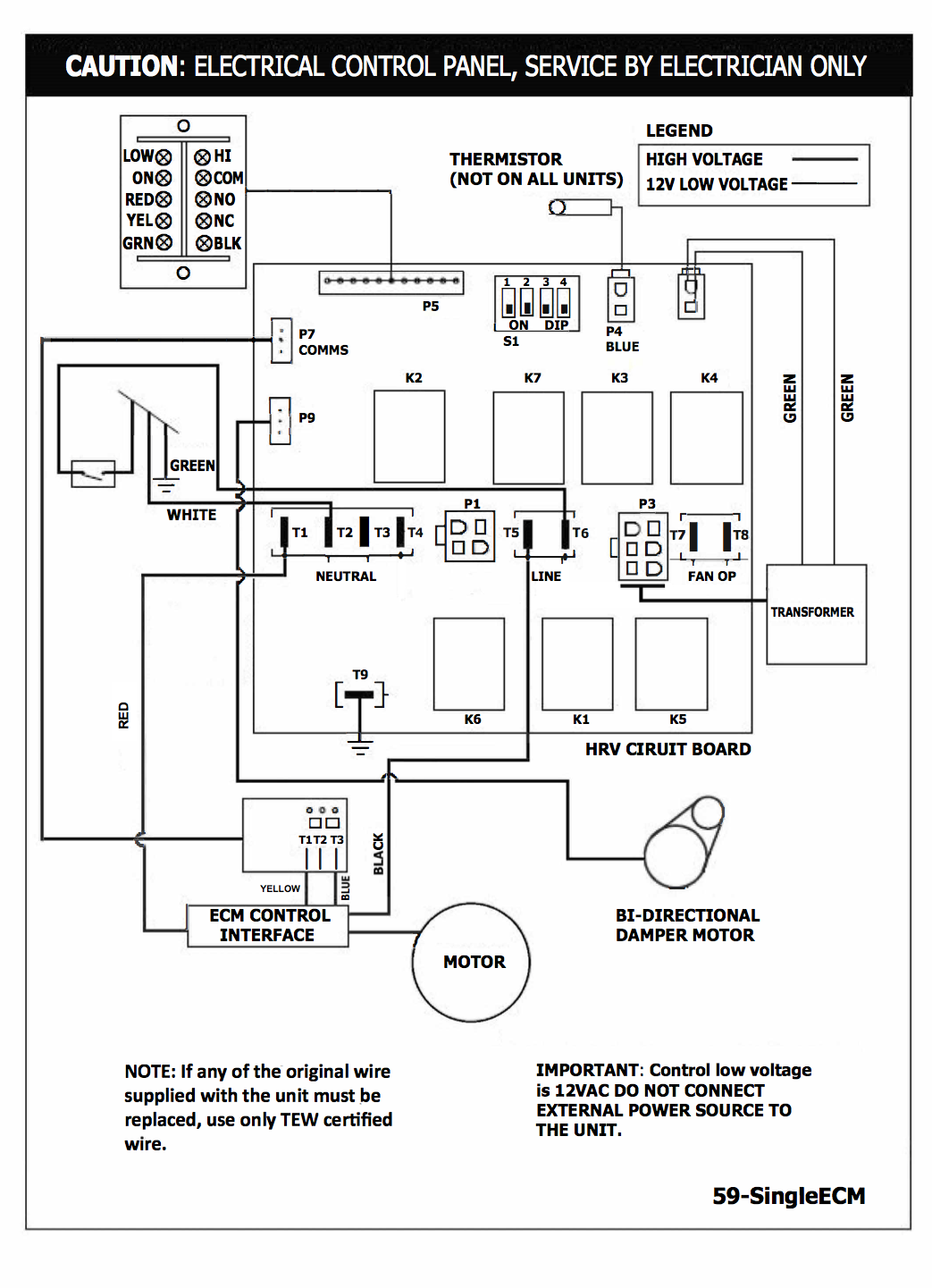 Lifebreath 195 Ecm Residential Heat Recovery Ventilator Hrv Motor Wiring Diagram For Hvac Downloads