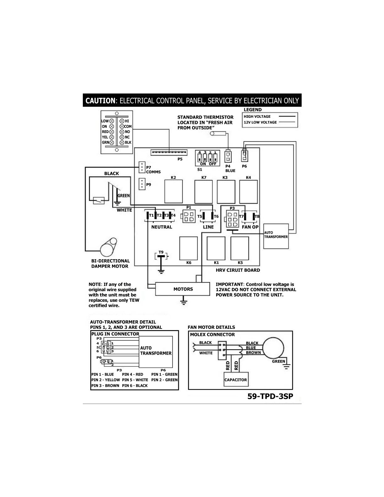 Lifebreath RNC5-ES Residential Heat Recovery Ventilator